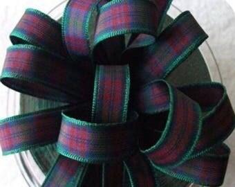plaid fabric Ribbon code 1059 LINDSAY 7 mm