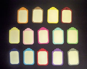 SCRAPBOOKING Lot Punch tag color choice