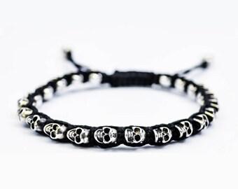 925 Silver Skulls Bracelet
