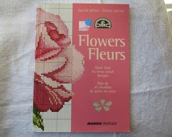 Book embroidery flowers