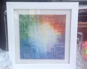 Hand painted picture and frame