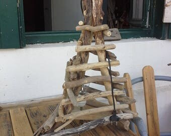 Pyramid lamp Driftwood