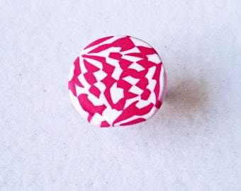 CERISANE dyed red and white ring
