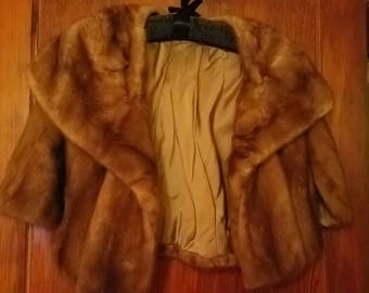 Genuine Vintage Mink Stole/Shrug