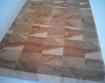 Siberian larch etsy not a large kitchen cutting board made of siberian larch wood custom end grain cutting sciox Image collections