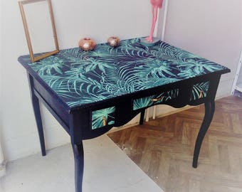 desk or table jungle green and Navy Blue