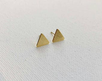 Gold Triangle Dainty Earrings