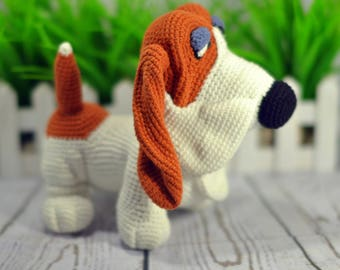 Dog Harold. Puppy Dog knitted toys Amigurumi toy dog knit dog knitted dog knit toy Plush dog Stuffed