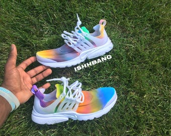 Nike Presto Multi-Colored Rainbow Custom