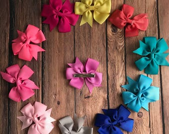 Girls Colorful Bow Clip/Girls Hairclip/Bow Girl Hairclip/Everyday Wear/Photo Prop/Stockings Gift/Baby Shower Gift/ Christmas Tree/Jolly/