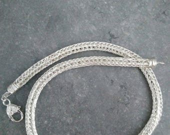 double viking knit necklace mesh silver plated. Unisex the femoir is to pick your choice