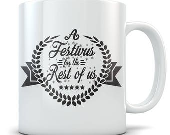 Seinfeld Mug - A Festivus For The Rest of Us Coffee Cup - Non-Commercial Holiday's Celebration December 23rd - Funny Frank Quote Gift Mug