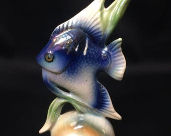 Vintage Iridescent Fish Figurine made in Holland