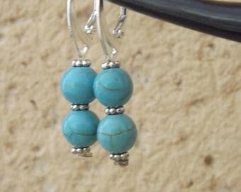 Beautiful earring in turquoise