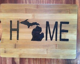 Michigan Home Cutting Board