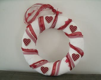 Crown red gingham, polka dot hearts