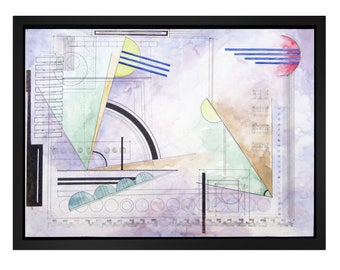 Abstract Art, water color, painting, wassily kandinsky