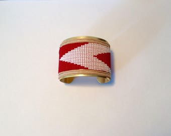 50mm Peyote beaded Cuff Bracelet