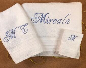 Custom Embroidered Set of Bath Towels