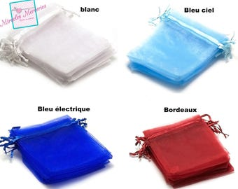 10 small 65 organza gift bags x 95 mm, color choice