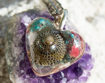 Crystalline Orgone Pendant - Life Force Generator 528hz /  EMF Protection - Crystal Artisan Jewelry
