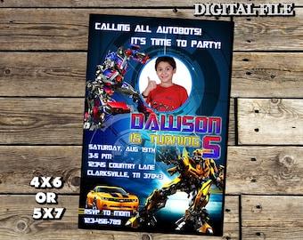 Transformers Invitation,Transformers Birthday Invitation,Transformers,Transformers Birthday Party,Boy Invitation,Transformers Invite