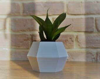Hexagon planter, gift for home, minimalistic design, modern planter for office, planter for succulents