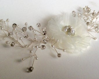 Pearl bridal hair vine