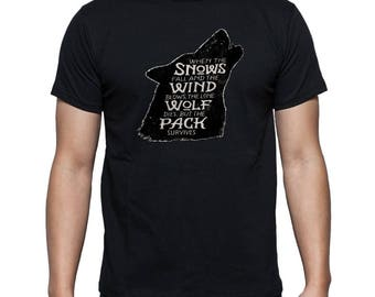 Game of thrones wolf pack t shirt