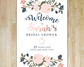 Bridal Shower Welcome Sign - Digital Download   Bridal Shower   Welcome Sign   Printable Art   Custom Sign   Personalized