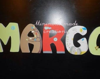 custom name wooden MARGO