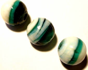 1 Pearl 14mm turquoise spiral round VCR108