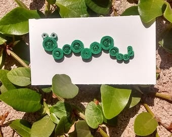 Paper Quilling Worm