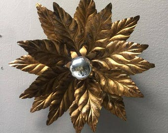 Set of Leaf Shaped Wall Lights in the style of Willy Daro circa 1970s