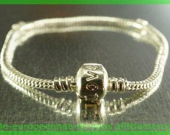 love bracelet silver N50 clasp 19cm for European charms Pearl clip