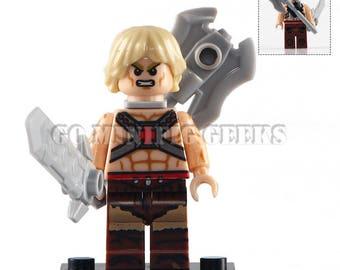 Custom He-Man 1983 Minifigure Masters of the Universe MOTU Fits Lego UK Seller
