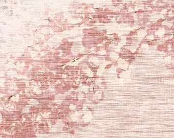 ORIGINAL design, durable and WASHABLE PLACEMAT - 1 - Classic Japanese floral fabric.