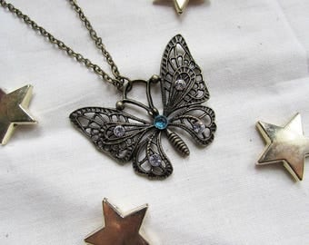 """""""Moth"""" necklace - bronze color Butterfly"""