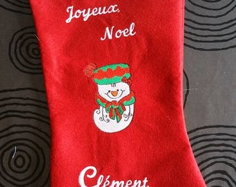 Boot Christmas snowman personalized free