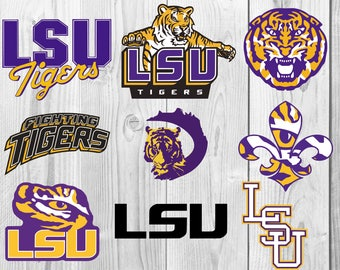 LSU SVG, DXF cutting file, Printable, T-shirt Design, Scrapbooking Clipart