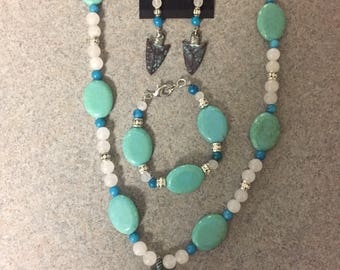 Arrowhead jewelry set