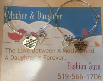 Mother & Daughter Matching Bracelets