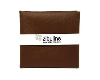 Coupon of faux leather with fine - 45 x 50 cm - color
