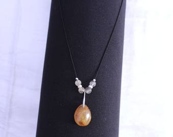 energizing rutilated quartz necklace