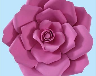 Floral Paper Craft Template, Flower Template Paper Cutting, Paper Flower Templates