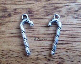 Charm silver 26x10mm barley sugar