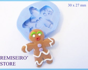 Snowman gingerbread 30 mm silicone craft mold