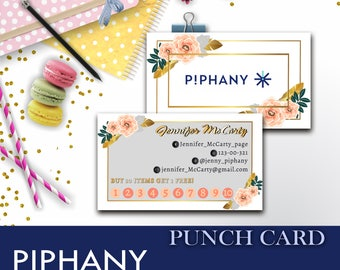 PIPHANY Punch Card, Piphany Business - PIPHANY Marketing - Piphany Loyalty - Piphany Custom - Piphany Sale - PIPHANY buy one - Piphany Stamp