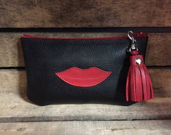 Tassel pouch mouth leather - more colors available