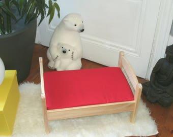 "Cloth cover 70 x 160 cm evolutionary Ptibidi ""red"" bed""Ptibidi"